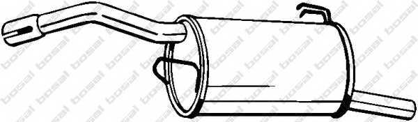 Глушитель выхлопных газов конечный BOSAL 177-683 - изображение