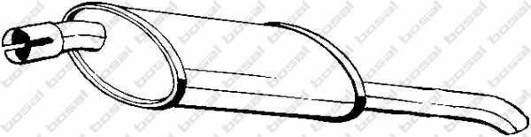 Глушитель выхлопных газов конечный BOSAL 185-009 - изображение