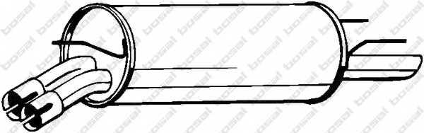 Глушитель выхлопных газов конечный BOSAL 185-011 - изображение