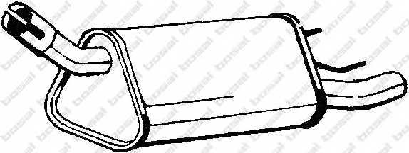 Глушитель выхлопных газов конечный BOSAL 185-339 - изображение