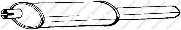 Глушитель выхлопных газов конечный BOSAL 185-449 - изображение