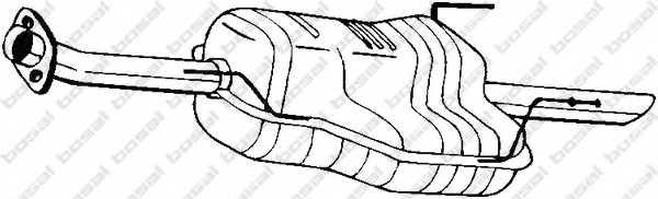 Глушитель выхлопных газов конечный BOSAL 185-459 - изображение