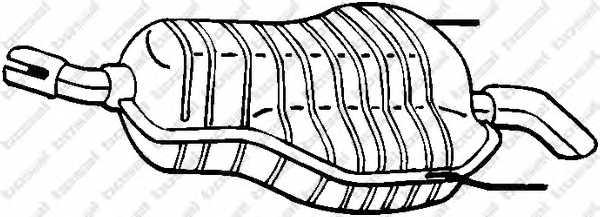 Глушитель выхлопных газов конечный BOSAL 185-469 - изображение