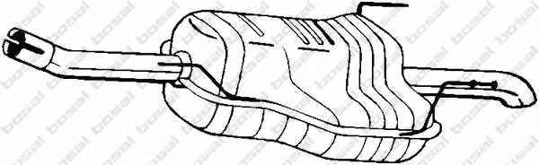Глушитель выхлопных газов конечный BOSAL 185-479 - изображение