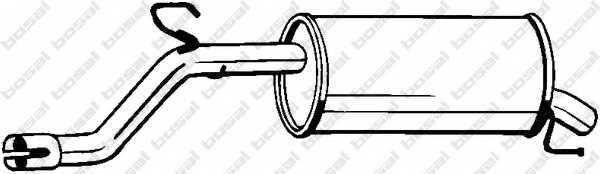 Глушитель выхлопных газов конечный BOSAL 185-683 - изображение