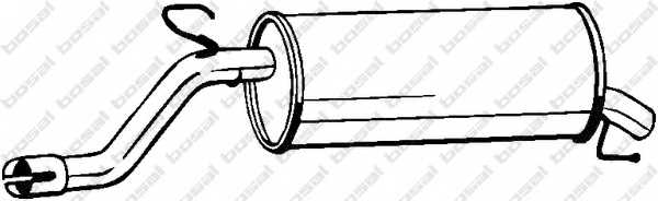 Глушитель выхлопных газов конечный BOSAL 185-685 - изображение