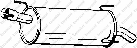 Глушитель выхлопных газов конечный BOSAL 185-959 - изображение