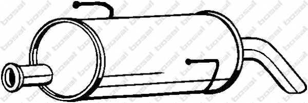 Глушитель выхлопных газов конечный BOSAL 190-001 - изображение