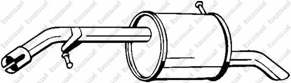 Глушитель выхлопных газов конечный BOSAL 190-039 - изображение