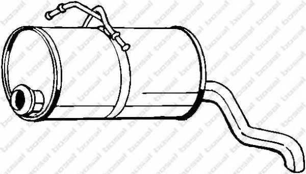 Глушитель выхлопных газов конечный BOSAL 190-129 - изображение