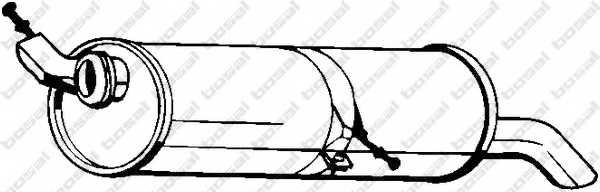 Глушитель выхлопных газов конечный BOSAL 190-509 - изображение