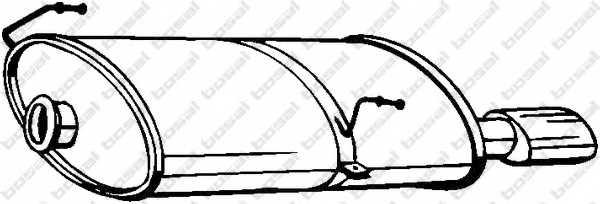 Глушитель выхлопных газов конечный BOSAL 190-619 - изображение