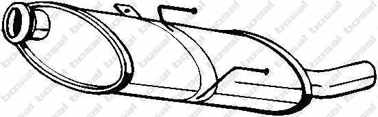 Глушитель выхлопных газов конечный BOSAL 190-833 - изображение