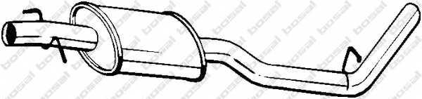 Средний глушитель выхлопных газов BOSAL 200-307 - изображение