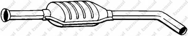 Средний глушитель выхлопных газов BOSAL 200-341 - изображение