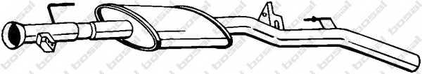 Средний глушитель выхлопных газов BOSAL 200-361 - изображение