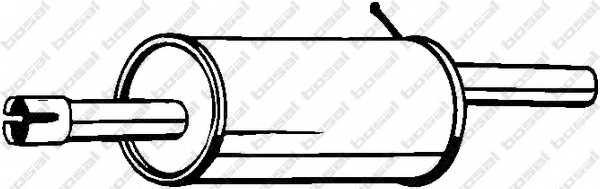 Глушитель выхлопных газов конечный BOSAL 200-555 - изображение