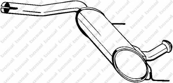 Средний глушитель выхлопных газов BOSAL 200-729 - изображение