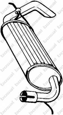 Глушитель выхлопных газов конечный BOSAL 211-393 - изображение