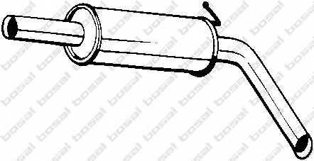 Средний глушитель выхлопных газов BOSAL 220-039 - изображение