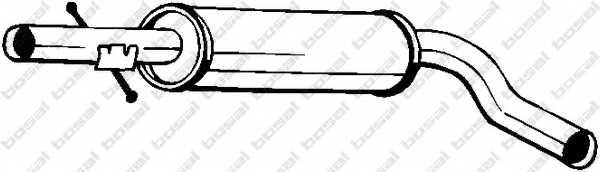 Средний глушитель выхлопных газов BOSAL 220-663 - изображение