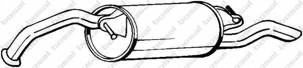Глушитель выхлопных газов конечный BOSAL 228-045 - изображение