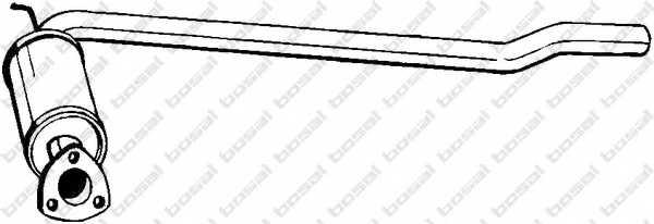 Средний глушитель выхлопных газов BOSAL 233-113 - изображение