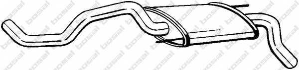 Глушитель выхлопных газов конечный BOSAL 233-325 - изображение