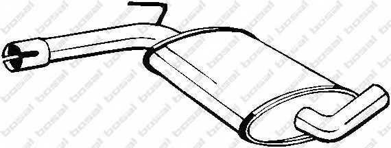 Средний глушитель выхлопных газов BOSAL 233-481 - изображение