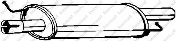 Средний глушитель выхлопных газов BOSAL 233-575 - изображение