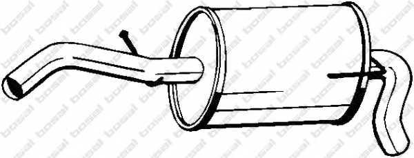 Глушитель выхлопных газов конечный BOSAL 233-607 - изображение