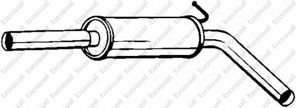 Средний глушитель выхлопных газов BOSAL 233-633 - изображение