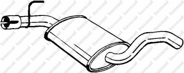Средний глушитель выхлопных газов BOSAL 233-693 - изображение