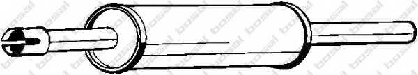 Средний глушитель выхлопных газов BOSAL 233-701 - изображение