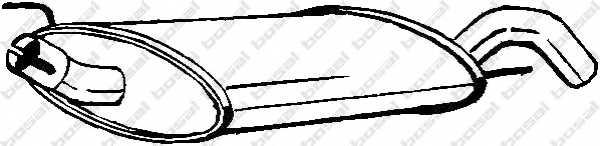 Глушитель выхлопных газов конечный BOSAL 233-735 - изображение