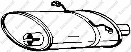 Глушитель выхлопных газов конечный BOSAL 235-007 - изображение