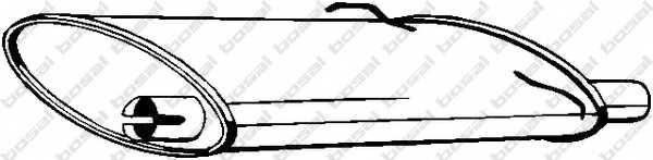Глушитель выхлопных газов конечный BOSAL 235-021 - изображение