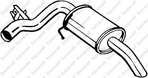 Глушитель выхлопных газов конечный BOSAL 247-013 - изображение