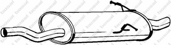 Глушитель выхлопных газов конечный BOSAL 247-115 - изображение