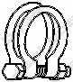 Клемма системы выпуска BOSAL 250-454 - изображение