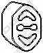 Резиновые полоски системы выпуска BOSAL 255-030 - изображение
