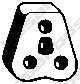 Резиновые полоски системы выпуска BOSAL 255-044 - изображение