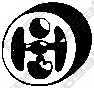 Резиновые полоски системы выпуска BOSAL 255-090 - изображение