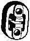 Резиновые полоски системы выпуска BOSAL 255-132 - изображение