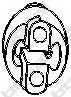 Резиновые полоски системы выпуска BOSAL 255-381 - изображение
