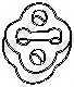 Резиновые полоски системы выпуска BOSAL 255-507 - изображение