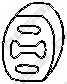 Резиновые полоски системы выпуска BOSAL 255-854 - изображение