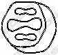 Резиновые полоски системы выпуска BOSAL 255-946 - изображение