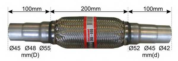 Гофрированная труба выхлопной системы BOSAL 265-005 - изображение