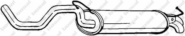 Глушитель выхлопных газов конечный BOSAL 278-145 - изображение